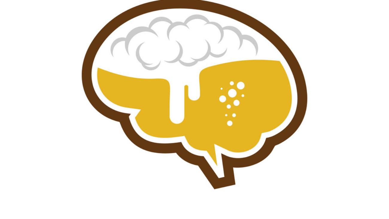 Brain Beer Logo Icon Design